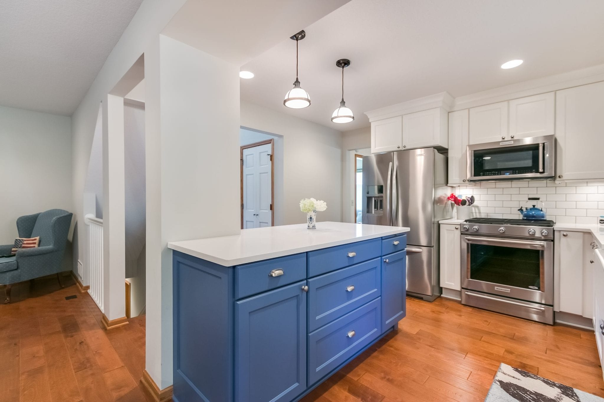 Kitchen with Bold Color | FBC Remodel