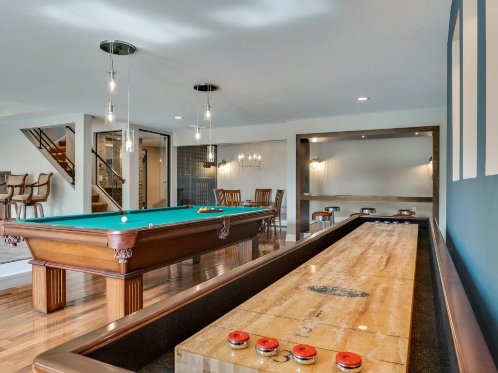 basement remodel with game room   FBC Remodel