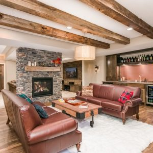 sitting room | contemporary basement remodel | finished basement company